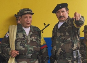 "Manuel Marulanda Velez ""Tirofijo"" Now Deceased & Jorge Briceño ""Mono Jojoy"" Current Head of FARC Military Wing"